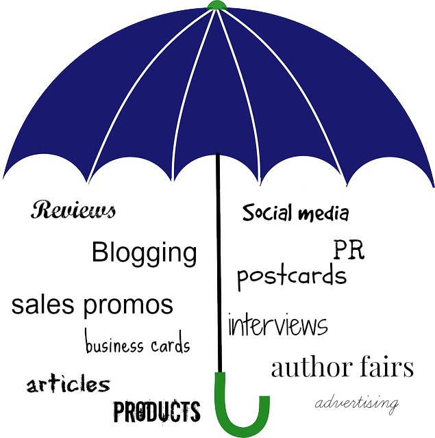 author marketing umbrella